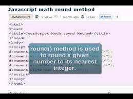 Javascript Math Ceil 0 by Javascript Tutorial Math Round Youtube