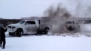 Pickup Trucks Good In Snow Fresh Ford Vs Dodge Tug Of War Must Watch ...
