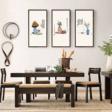 100 Zen Style Living Room US 934 47 OFF New Chinese 3Pcs Art Modern Pictures Canvas Painting Wall Poster For Office Home Decor Ready To Hangin
