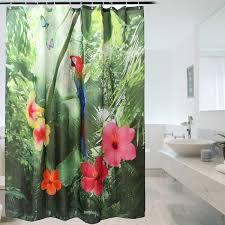 Curtain Materials In Sri Lanka by 180 200cm 72 Inch Polyester Shower Curtain Parrot Waterproof