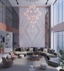 104 Luxurious Living Rooms Artstation Double Height Room Tarek Feteha