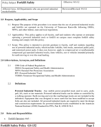 Forklift Safety Policy GS-132 Page 1 - PDF Departm Ent Of Labor Getting An Osha Forklift Cerfication Carbon Black Automotive The Ohio State University And Powered Industrial Truck Copyright Atlantic Traing 2018 Pedestrian Safety Lightswhat A Bright Idea Bowling Green Australian Association Lifting Forklift Safety Maintenance Reability Support Acvities Forklifts 6 Trucks Top Vlations Of 2013 For