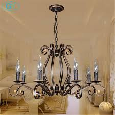 2018 New Europe Style Wrought Iron Chandelier Vintage E14 Candle Lustres Lighting For Living Room Dining