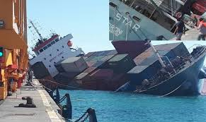 100 Shipping Container Shipping Ship Capsized Sank In Iranian Port SL STAR