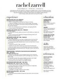 2 Column Resume Template Cv Templates