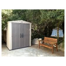 Keter Storage Shed Shelves by Factor Large Resin Outdoor Storage Shed 8x11 Taupe Beige Keter