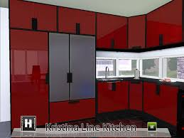Cool Sims 3 Kitchen Ideas by Mod The Sims Kristina Line Kitchen