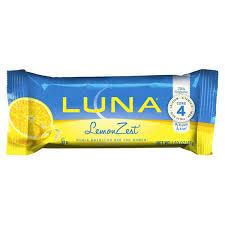 Luna Lemon Zest Bars 169 Oz Bags