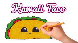 How to Draw a Cute Cartoon Taco 🌠How to Draw Easy Kawaii Stuff