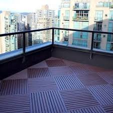 pvc deck tiles are easy to install and will not harbor mold or