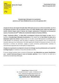 bureau des congres calaméo communiqué de presse bureau des congrès grenoble alpes