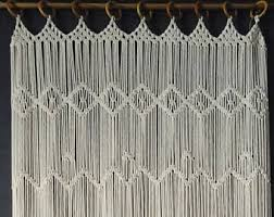 Macrame Door Curtain Macrame Wall Hanging