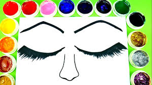 Coloring Eyes Make Up Beautiful Eyeshadow Pages For Kids