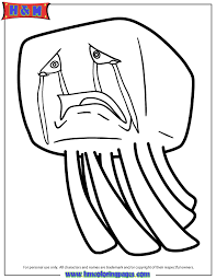Ghast From Minecraft Video Game Coloring Page