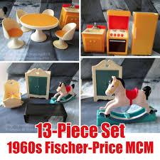 Vintage Fischer Price Furniture Set MCM Dining Table Kitchen Baby ...