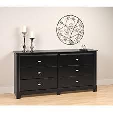 amazon com black kallisto 6 drawer dresser kitchen dining