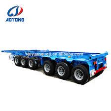 100 Tandem Truck Madagascar 3 Axlestandem Axle Superlink Container Semi Trailer40ft