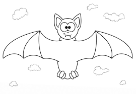Vampire Bat Cartoon Character Coloring Page