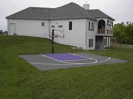 Exciting Small Backyard Basketball Court Ideas Pics Design ... Backyard Basketball Court Multiuse Outdoor Courts Sport Sketball Court Ideas Large And Beautiful Photos This Is A Forest Green Red Concrete Backyard Bar And Grill College Park Go Green With Home Gyms Inexpensive Design Recreational Versasport Of Kansas 24x26 With Canada Logo By Total Resurfacing Repairs Neave Sports Simple Hoop Adorable Dec0810hoops2jpg 6 Reasons To Install Synlawn Small Back Yard Designs Afbead