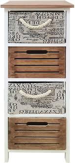 mobili schmale kommode nachttisch 4 schubladen braun weiß beige modernes design für badezimmer maße 82 x 30 x 30 cm hxlxb