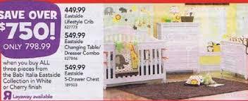 Babi Italia Dresser Cherry by Black Friday Deal Babi Italia Eastside Lifestyle Convertible Crib