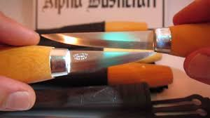 mora 120 u0026 106 carving knives www alphabushcraft co uk youtube