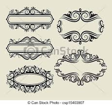 Five Style Blank Label Frame Ornament Decorations Good Use