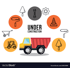 Under Construction Truck Tipper Vehicle Tools Icon