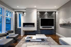 steinwand im wohnzimmer wanddeko mit verblendsteinen