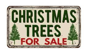 Christmas Tree For Sale Vintage Rusty Metal Sign On A White Background Vector Illustration Stock