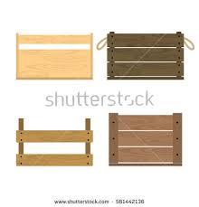 Vector Illustration Realistic Wooden Vegetable Box Stock Vector