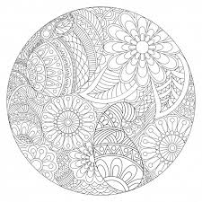 Beautiful Rounded Mandala Design With Ethnic Floral Pattern Vintage Decorative Element For Coloring Book