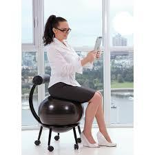 Yoga Ball Desk Chair Benefits by Purathletics Ball Chair Wte10441 Black Stability Balls