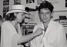 Stevie Ray Vaughan And Joe Ely Backstage At Fitzgeralds Houston TX July 1984