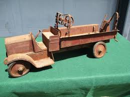 Vintage 1920 S Steelcraft, Buddy L Pressed Steel Fire Truck Parts Or ...
