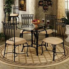 Small Wrought Iron Kitchen Table With Rounded Glass Top ... Encore Fniture Gallyhooker Wrought Iron Fascating Table Set Off Glass And Gold Ding Table Iron Worldpharmazoneco And Chairs Outdoor Ding Room Indoor Wrought Room Sets Chairs Adrivenlifecom Arthur Umanoff Somette Round Top Beautiful Best My Blog Dinette Zef Jam Hutchsver High Stools 9 Pieces