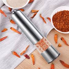 Stainless Steel Electric Mill Grinder Pepper Salt Spice Grind Tool Cooking Kitchen Accessaries In Mills From Home Garden On Aliexpress