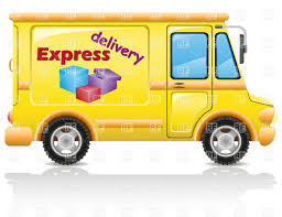 100 Delivery Truck Clipart Yellow Minibus Profile Express Delivery Van Vector Illustration Of
