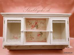 hängeschrank vitrine küche bad in weiß shabby mit glasscheiben und baumwollspitze