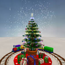 Toy Train 1 2 3 4 Christmas Tree