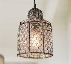 harlowe wire glass indoor outdoor pendant pottery barn
