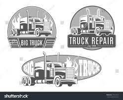 100 Semi Truck Logos Set Vector S Stock Vector Royalty Free 370412759