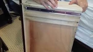 Vaughan Bassett Dresser Drawer Removal by Dresser Drawer Repair Installing Under Mount Drawer Slides Youtube