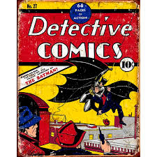 Vintage Superhero Wall Decor by Batman Detective Comics No 27 Cover Metal Sign Superhero Signs