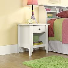 Sauder Shoal Creek Dresser Walmart by Sauder Shoal Creek 1 Drawer Jamocha Wood Nightstand 409942 The