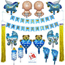 Amazoncom Boy Baby Shower Decorations Blue Decor Strung Banner