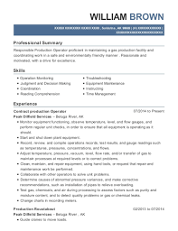 View Resume Contract Production Operator