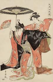 Thekimonogallery Two Women Dancing Ukiyo E Woodblock Print About Japan Artist Utagawa Toyokuni I
