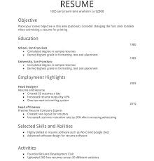 Sample Resume New Graduate Accounting Plus Simple Format For Fresh Within