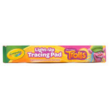 crayola light up tracing pad featuring trolls 20 pieces